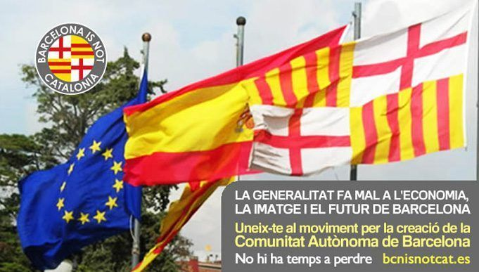 Campaña de la plataforma Barcelona is not Catalonia.