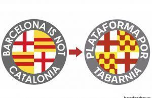 Evolución del logotipo de Barcelona isn ot Catalonia.